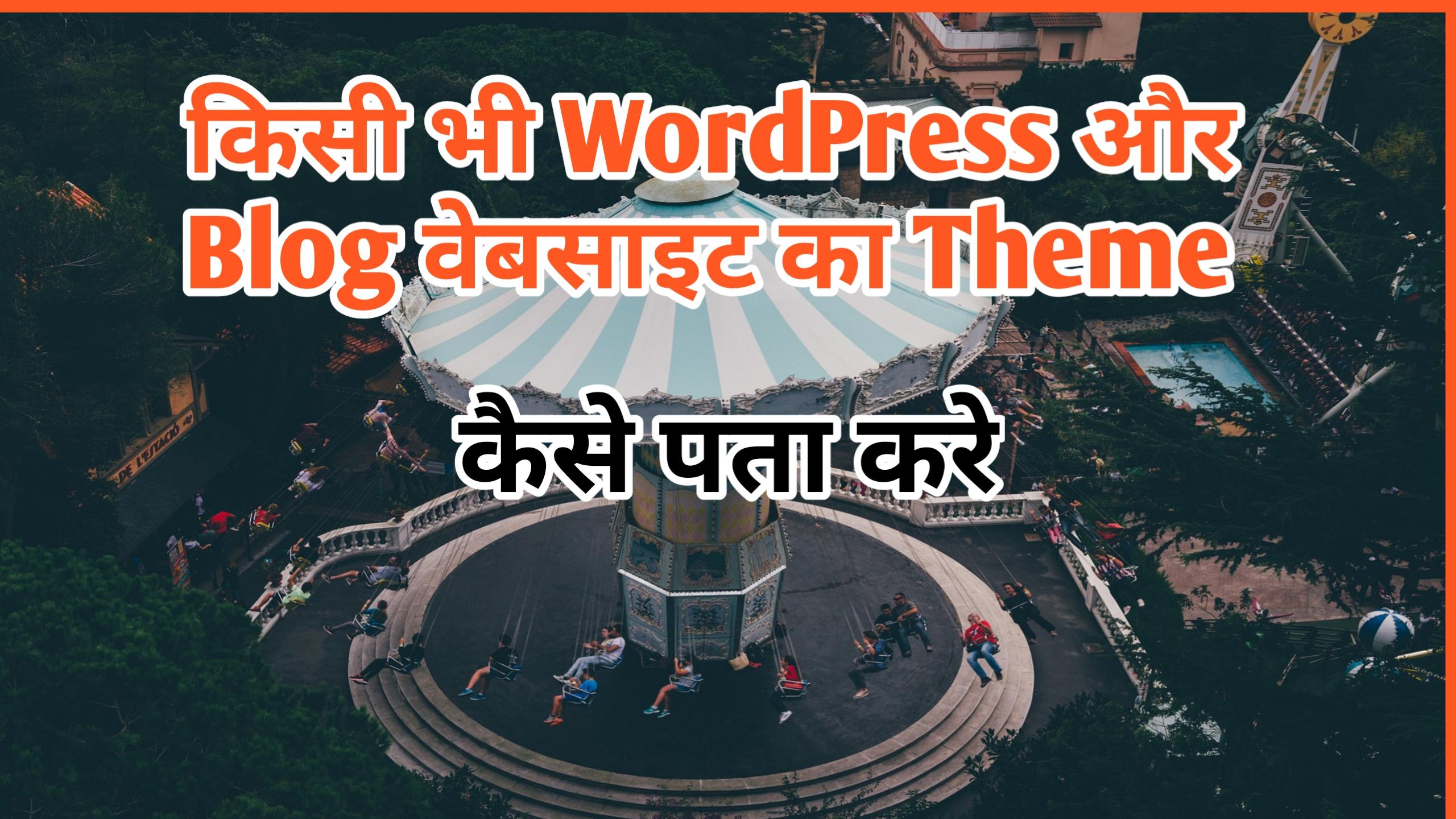 Cheak Websites Theme Name In Hindi
