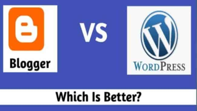 Blogger Vs WordPress in Hindi~Which is Better कौन सा Platform बेहतर है? जानिए अंतर