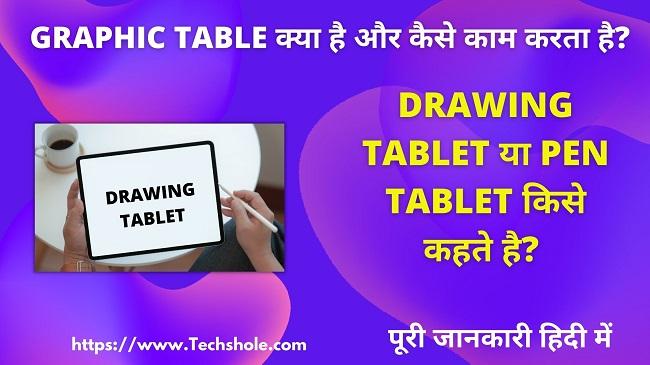Graphic Tablet क्या है और कैसे काम करता है (Graphic Tablet in Hindi)