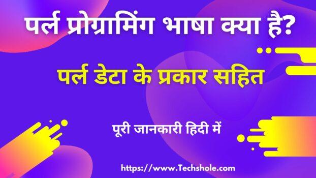 पर्ल प्रोग्रामिंग भाषा क्या है (What is Perl Language in Hindi)