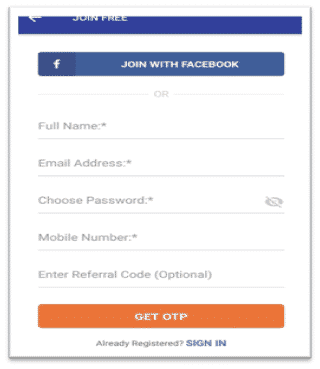 CashKaro Account Register
